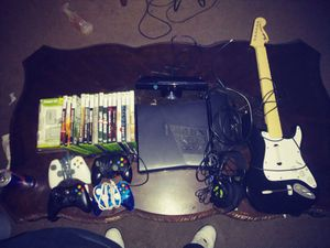 Xbox 360 Connect Turtle Beach headphones Guitar with Guitar Hero 15 games and power kit $225 for Sale in Washington Township, NJ