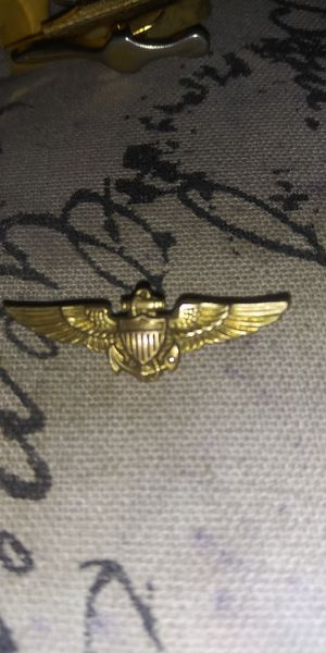 Gold wing 10k military pin medal army antique for Sale in Long Beach, CA