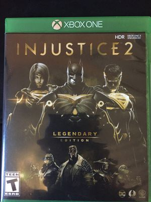 Injustice 2 legendary edition Xbox one for Sale in Orlando, FL