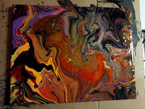 Halloween Marble Painting for Sale in Northwood, OH