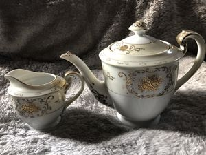Shofu Tea Pot and Creamer Set. Gold Guilded for Sale in Cynthiana, KY