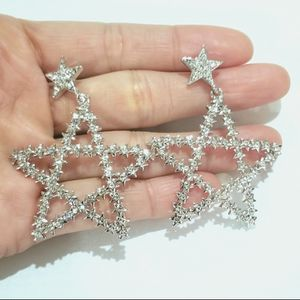 Star cz diamond dangle earrings for Sale in Austin, TX