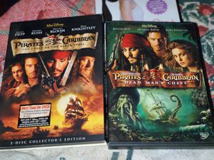 Pirates of the Caribbean Set 2 DVSs for Sale in Memphis, TN