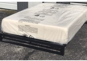 """New in a box FULL size platform bed frame and 12"""" memory foam mattress for Sale in Columbus, OH"""