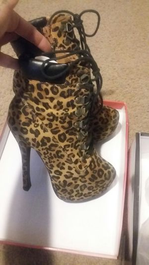 Cheetah over ankle boots for Sale in Phoenix, AZ