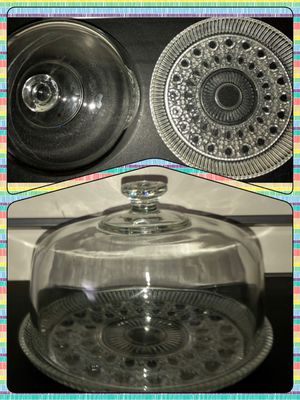 Glass cake plate for Sale in Appomattox, VA