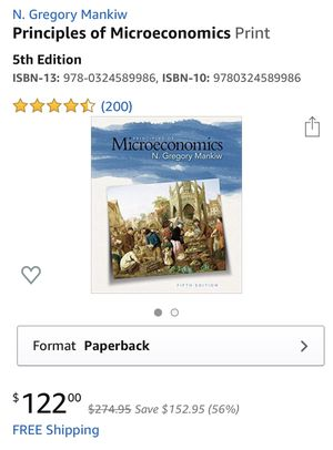 Principles of Microeconomics book for Sale in Torrance, CA