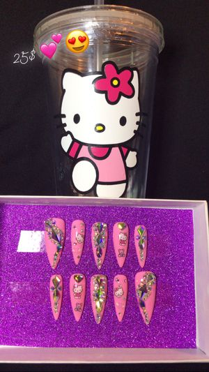 Hello kitty press on nails for Sale in Ontario, CA