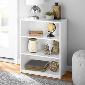 Brand New In Box White 3 Shelf BookCase Modern for Sale in Las Vegas, NV