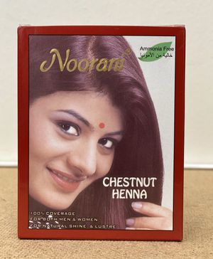 NOORANI HENNA CHESTNUT 6 POUCHES X 10g NATURAL HAIR COLOR for Sale in San Gabriel, CA