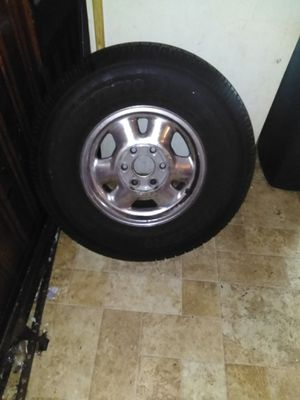 Chrome GMC rims 2 of the rims have brand new tires need tires or best offer willing to trade for lowrider bikes or parts for Sale in San Antonio, TX