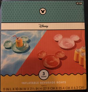 New Disney 3 count Inflatable beverage boats. for Sale in Riverside, CA