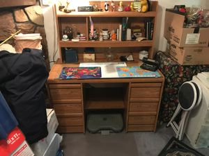 Office Desk with storage shelves for Sale in Kennewick, WA