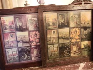 Vintage country prints in woodframe for Sale in San Antonio, TX