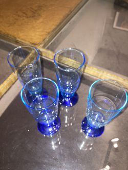 Vintage Cordial Glass Set (Blue) for Sale in Chicago, IL