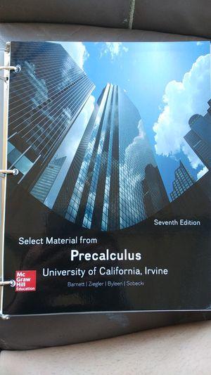 Precalculus Book by Barnett, Ziegler, Byleen, Sobecki for Sale in Irvine, CA