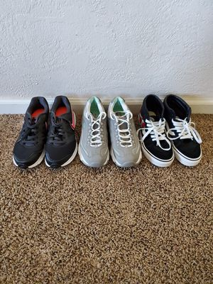 "3 pairs of Women's shoes"" Nike Downshifter 6 and Sketchers D'Lites air cool memory foam and Vans Shoes. for Sale in Fresno, CA"