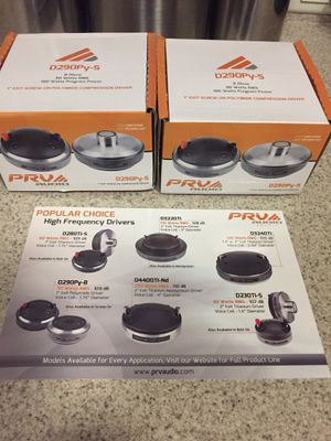 2 PRV Audio D290Py-S 1″ Pro Audio Compression Driver NEW for Sale in Riverview, FL