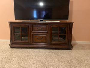 Tv stand for 65- 70 inch tv for Sale in Dublin, OH