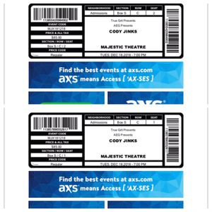 Cody Jinks Tickets for Sale in Dallas, TX