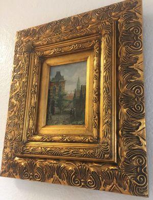 Gorgeous vintage, older, original oil painting by European, Dutch artist I.N.P. , H17xW15 inch for Sale in Chandler, AZ