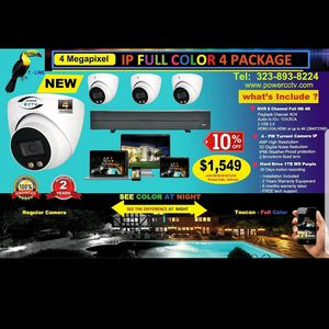 4 MP Full Color Security System Package for Sale in Los Angeles, CA