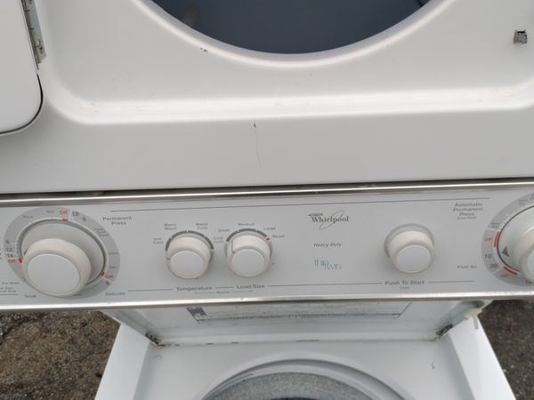 Dual washer and dryer ready to go like new 300$