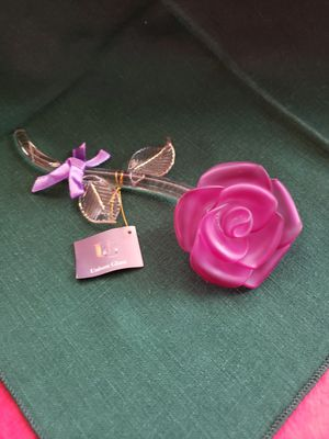 Crystal glass rose for Sale in Riverside, CA