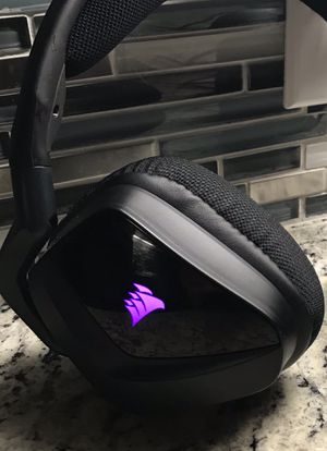 Corsair Gaming Headset - VOID PRO RGB USB Premium Gaming Headset with Dolby Headphone 7.1, Carbon for Sale in Plano, TX