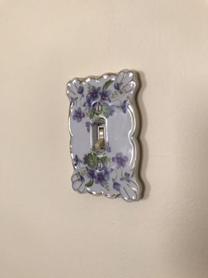 2 vintage porcelain light switches- 1 pink/1 purple for Sale in Long Grove, IL