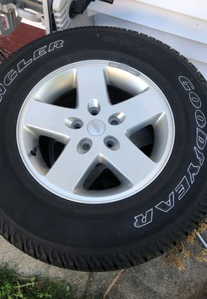 """17"""" wheels and tires. For a Jeep 500$ OBO for Sale in Cranston, RI"""