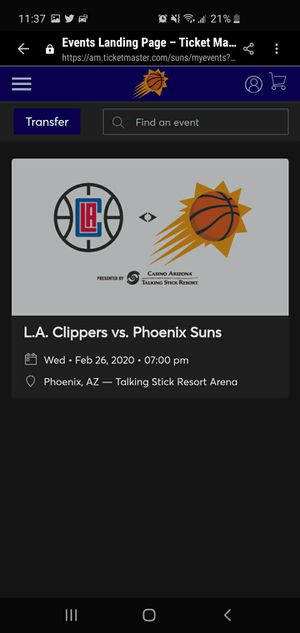 Phoenix Suns Vs LA Clippers 2/26 Executive suites for Sale in Avondale, AZ