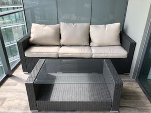 Outdoor Furniture - 2 club chairs, sofa and table for Sale in Miami, FL
