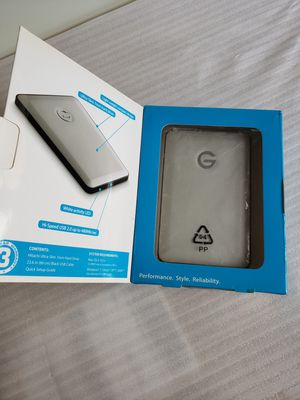 G-Technology G-DRIVE Ultra-slim Portable USB 3.0/2.0 Drive 500GB. for Sale in Adelphi, MD