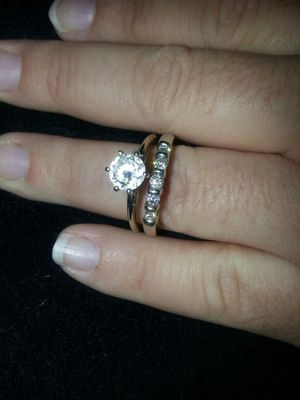 14kt white gold wedding rings for Sale in Adelphi, MD