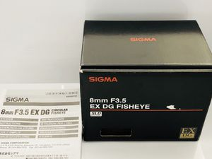 Sigma 8mm f3.5 DG EX Circular Fisheye lens for Canon EF for Sale in Seattle, WA