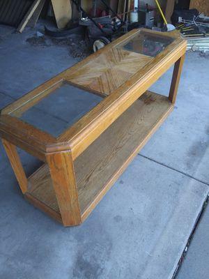 Very Nice Wood/Glass Coffee Table for Sale in Wichita, KS