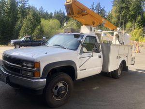 1997 Chevy Cheyenne Diesel 30 ft Bucket Truck for Sale in Edmonds, WA