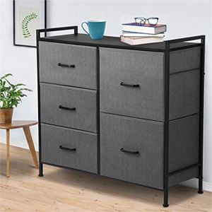 Kingso Fabric 5 Drawer Dresser Storage Tower Organizer for Sale in Charlotte, NC
