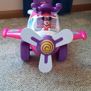 Minnie Mouse Musical Activity Airplane Ride-On for Sale in North Ridgeville, OH