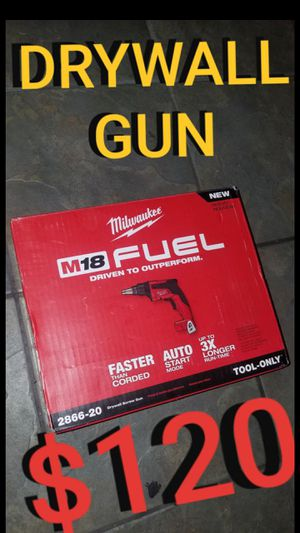 Milwaukee m18 fuel drywall gun for Sale in Los Angeles, CA