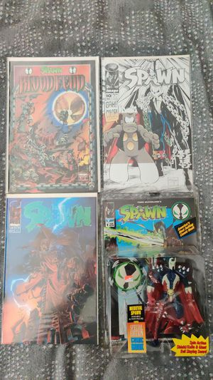 Spawn lot: 3 comics, 1 action figure for Sale in Seattle, WA