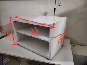 2 shelf white storage shelving unit ! for Sale in Hollywood, FL
