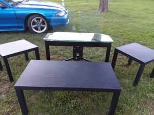Tv stand 3 shelves,end tables and coffee table..Matching for Sale in Union, MO