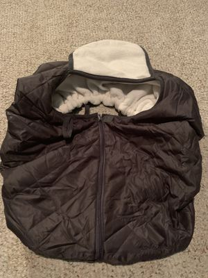 Eddie Bauer Insulated Infant Car Seat Cover Brown Grey Fleece for Sale in Wilson, NC