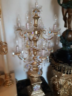Antique candelabra lamp I have a pair of two candelabras. Check out my page for other beautiful items like this for Sale in Upland, CA