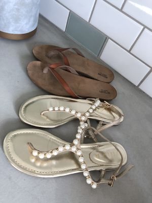 Sz 7-7.5 sandals only worn one time-Mccall and 180 for Sale in Sanger, CA