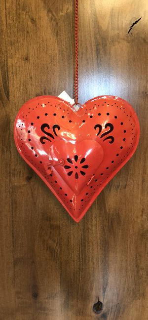 Red Heart-shaped Votive Candle Holder for Sale in Los Gatos, CA