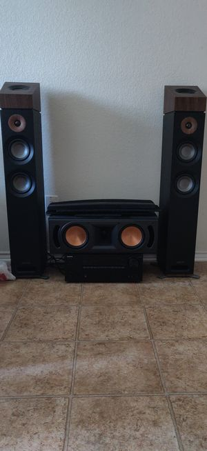 Home Theater 5.1 Surround sound Onkyo Receiver Klipsch/Jamo Speakers 100 Watts per Channel Dolby Atmos for Sale in Webberville, TX