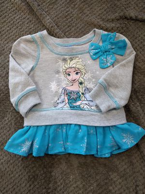 Disney   Elsa sweatshirt   12 months for Sale in Virginia Beach, VA